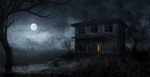 Resultado de imagem para casa á noite